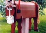 Decorative horse mailboxes