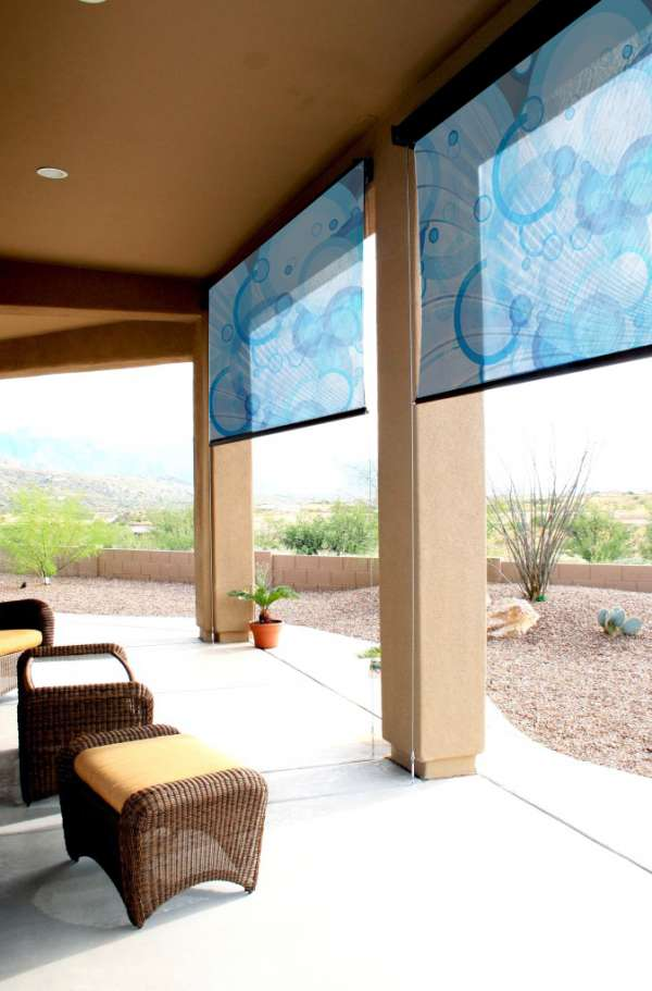 Custom window shades printed roller shades in Los Angeles