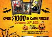 Halloween costume contest! come and win cash prizes!
