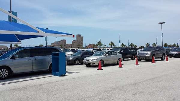 Reasonable rates of cruise port parking galveston