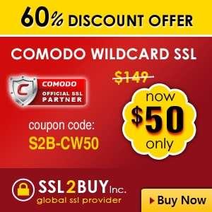 Earn 60% discount on comodo positive wildcard