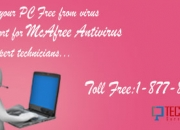 McAfee Toll Free Number USA relies to clean PC from Virus Ever