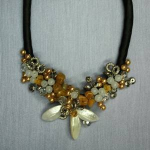 Truly minka - necklace with silver and yellow accents