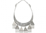 Spirits of The Forest Hmong Tribal Silver Statement Necklace