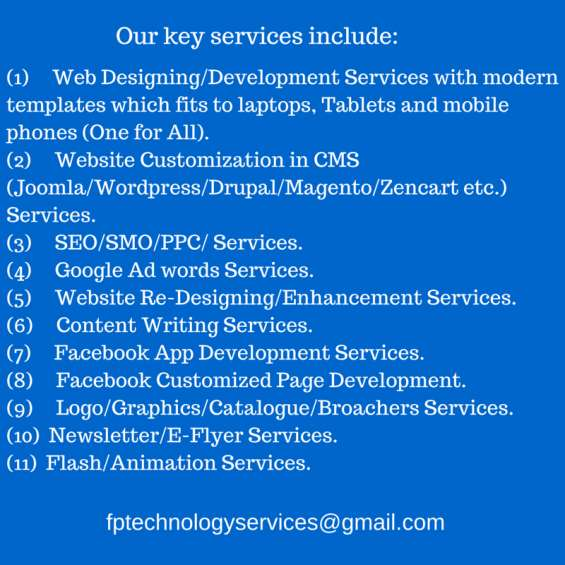 End to end website development services (starting from $200).