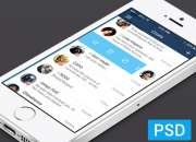 10 Mobile Free iOS Chat UI PSD