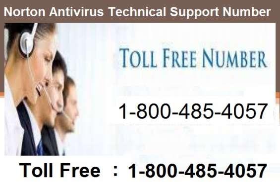 Norton antivirus technical support number 1-800-485-4057