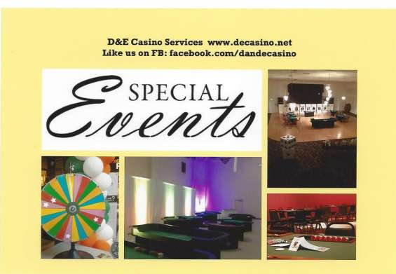 Need to spice up your next event? call d&e casino 888.417.2121