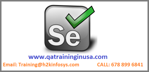 Selenium online training in usa with placements assistance