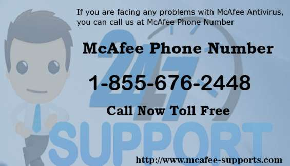 Mcafee phone number 1-855-676-2448