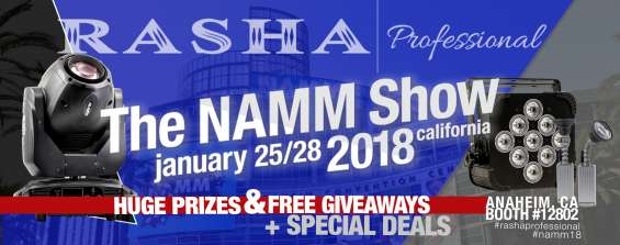 Rasha professional to exhibit its creative lighting solutions at the namm show