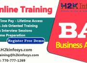Business analyst online training with job assistance by qa training in usa