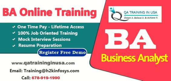 Business analyst online training with job assistance