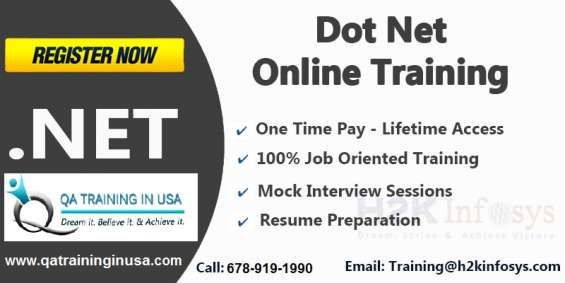 .net online training classes and placement assistance by qa training in the usa