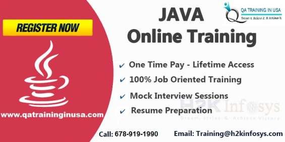 Java online training by qa training in usa
