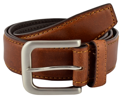 Shopnz leather belt for men - full grain leather designer belt – 35mm wide – 122