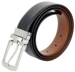 Shopnz reversible belt for men - black & brown genuine leather