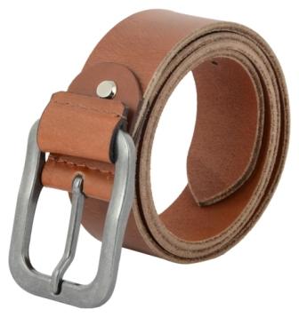Shopnz leather belt for men   full grain leather heavy duty casual jean belt - 40mm – 115