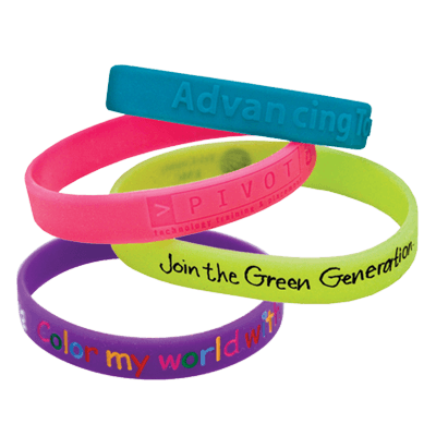 Support your sports team with custom rubber wristband