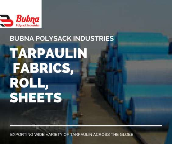Tarpaulins are available in various ways at bubna polysack industries. sheets, roll, fabric etc are exported by us worldwide.