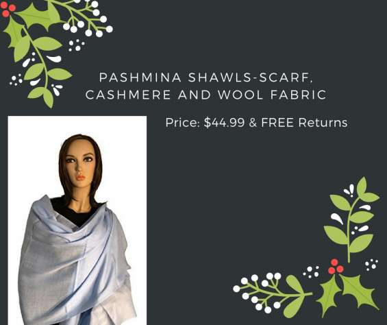 Get pashmina shawls-scarf, cashmere and wool fabric at price:$44.99 with free returns.