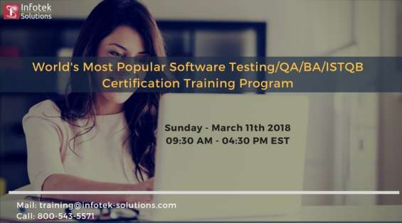Software testing/qa/ba/istqb certification training
