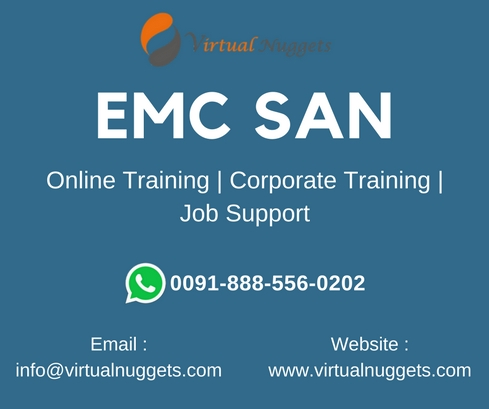 Virtualnuggets offering emc san online training by real-time experts in it industry.