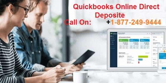 Quickbooks online direct deposit | quick phone number
