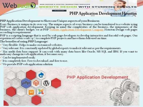 Http://www.webzudio.com/php-website-application-development-company-houston/
