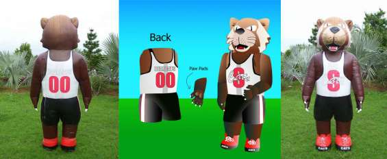 Use fur costumes to entertain public at events parties sports games etc