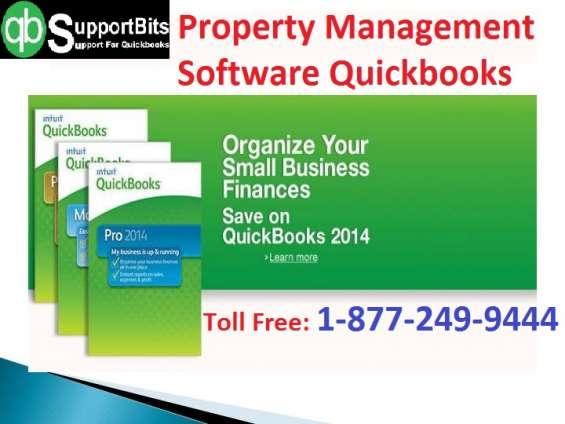 Property management software quickbooks   +18772499444