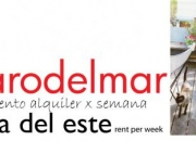 Apartment rent day / week punta del este uruguay