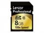Lexar Professional flash memory card - 8 GB - SDHC