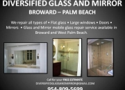 Ft.lauderdale window installed and repair (mirror), glass repair