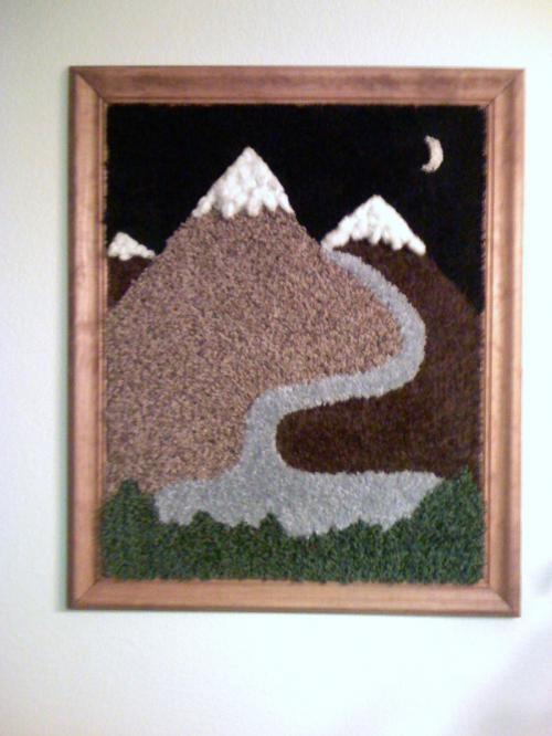 Custom made carpet art