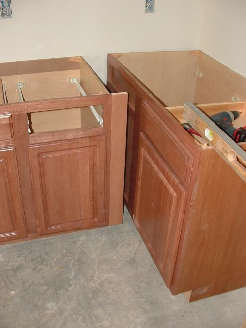 Stock Prefab Kitchen And Bathroom Cabinets For Fast Installation