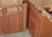 Stock prefab kitchen and bathroom cabinets stock and prefab for fast installation