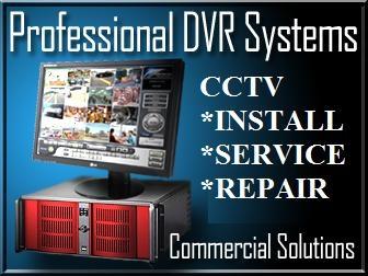Security camera system installation, cctv dvr systems