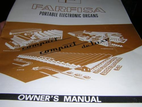 Farfisa compact combo keyboard/organ 1960's w/ manual in mint condition!