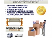 Expert moving and delivery - same day service