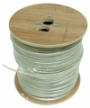 1000ft 12AWG Solid Dish Ground Wire Cable White