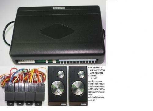 Car security alarm system with remote starter
