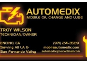 Automedix mobile oil change and lube
