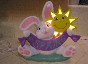 Baby's room lighted bunny nightlight