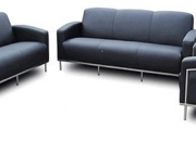 Contemporary European Design Black 3 Piece Sofa Set