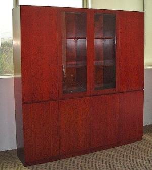 Office furniture - executive office cabinet (cherry wood veneer)