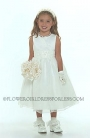 Flower Girl Dress Style 6036 Ivory-Simple Organza Dress With Hand Beaded Satin Belt