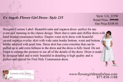Us angels flower girl dress- style 235