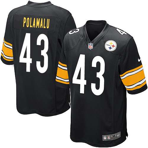 Troy polamalu #43 pittsburgh steelers 2012 new style black nfl jersey