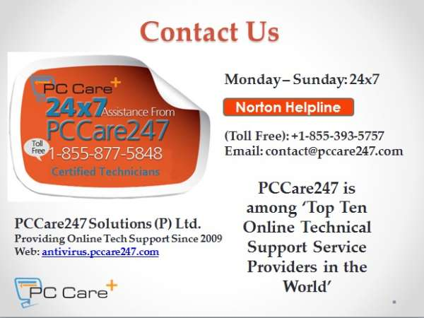 Norton antivirus help & support - pccare247